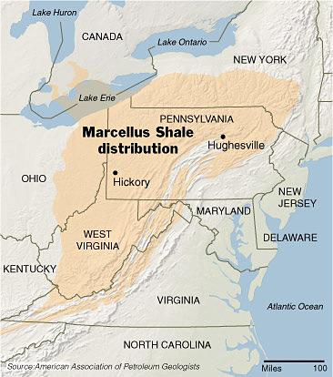 Marcellus Shale Map Northeast U S