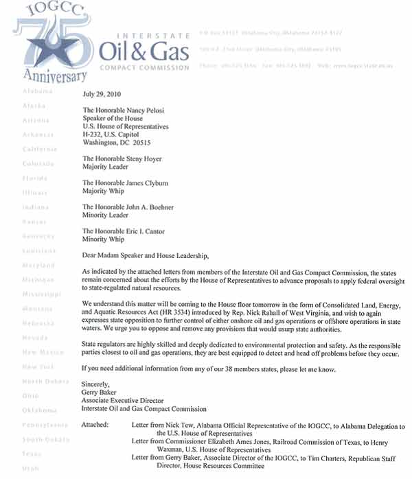 Changing Industries Cover Letter: Fracking Resource Guide